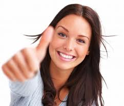 thumbs up woman